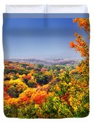 Autumn Over The Rolling Hills Duvet Cover