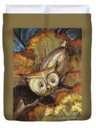 Autumn Owl Duvet Cover