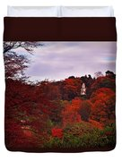Autumn Pagoda Duvet Cover