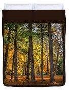 Autumn Pines Square Duvet Cover