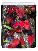 Autumn Poison Ivy Duvet Cover