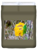 Autumn Poplar Leaves Duvet Cover