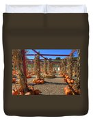 Autumn Pumpkin Patch Duvet Cover by Joann Vitali
