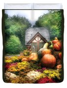 Autumn - Pumpkin - This Years Harvest Was Awesome  Duvet Cover