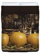 Autumn Pumpkins Duvet Cover by Amanda Elwell