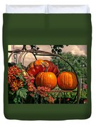 Autumn Pumpkins Duvet Cover