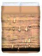Autumn Rain On Wood Duvet Cover