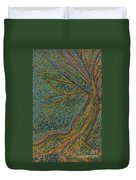 Autumn Rain Tree Duvet Cover