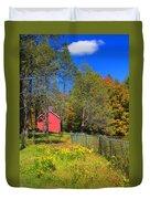 Autumn Red Barn Duvet Cover by Joann Vitali