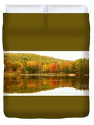 Autumn Reflection Panoramic View Duvet Cover