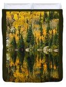 Autumn Reflections At Bear Lake Duvet Cover