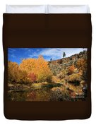 Autumn Reflections In The Susan River Canyon Duvet Cover