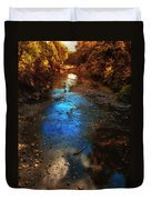 Autumn Reflections On The Tributary Duvet Cover