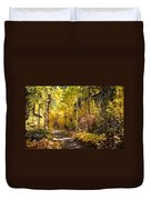 Autumn Road - Tipton Canyon - Casper Mountain - Casper Wyoming Duvet Cover