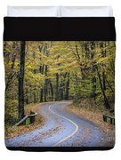 Autumn Road Duvet Cover