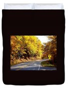 Autumn Road Duvet Cover by Mary Koval
