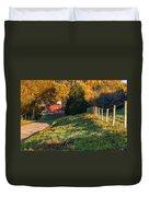 Autumn Road Morning Duvet Cover