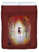 Autumn Romance Duvet Cover