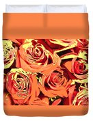 Autumn Roses On Your Wall Duvet Cover