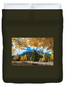 Autumn Scene Framed By Aspen Duvet Cover