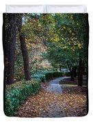 Autumn Side Walk Duvet Cover