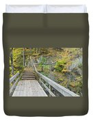 Autumn Steps Near Smalls Falls In Maine Duvet Cover
