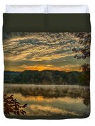 Autumn Sunrise At The Lake Duvet Cover