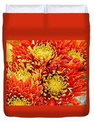 Autumn Sunrise Bouquet Duvet Cover