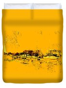 Autumn Sunset On The Delta Duvet Cover