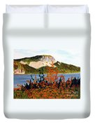 Autumn Sunset On The Hills Duvet Cover by Barbara Griffin