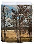 Autumn Texas Pasture Duvet Cover