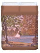 Autumn Time In The Park Duvet Cover