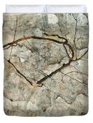 Autumn Tree In Stirred Air. Winter Tree Duvet Cover