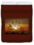 Autumn Tree In The Sunset Duvet Cover by Michal Boubin