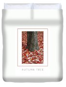 Autumn Tree Poster Duvet Cover