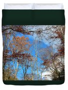 Autumn Trees And Heaven Duvet Cover