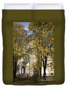 Autumn Trees In A Park Riga Latvia Duvet Cover