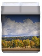 Autumn Trees In A Row Duvet Cover