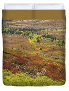 Autumn Tundra With Boreal Forest Duvet Cover