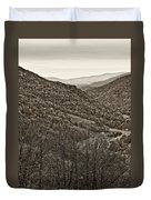 Autumn Valley Sepia Duvet Cover