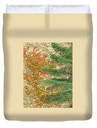 Autumn Vine And Evergreen Duvet Cover