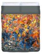 Autumn Vineyard Sunlight Duvet Cover