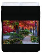 Autumn Walk In Grants Pass Duvet Cover