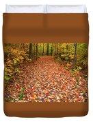 Autumn Walk In Ohio Duvet Cover