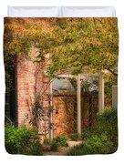 Autumn Walk In Pinehurst Duvet Cover