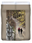 Autumn Walk On The C And O Canal Towpath Duvet Cover