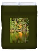 Autumn Watercolor Reflections Duvet Cover