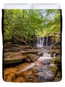 Autumn Waterfall Duvet Cover by Adrian Evans