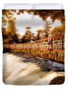Autumn Waterfall / Maynooth Duvet Cover by Barry O Carroll