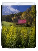 Autumn Wildflowers Duvet Cover by Debra and Dave Vanderlaan